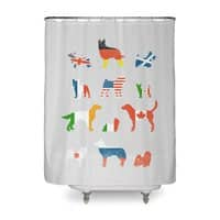 Many Nations Under Dog - shower-curtain - small view