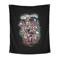 Good vs. Evil - indoor-wall-tapestry-vertical - small view