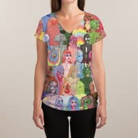 Cyberpunx - womens-sublimated-v-neck - small view