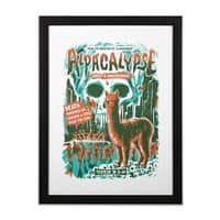 Alpacalypse! - black-vertical-framed-print - small view