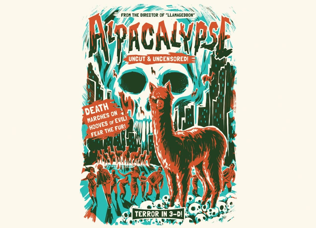Alpacalypse by david maclennan threadless for Best place to sell your art online