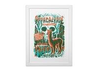 Alpacalypse! - white-vertical-framed-print - small view