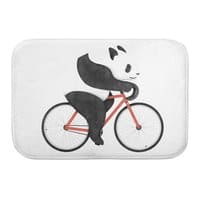 Panda Fixie - bath-mat - small view