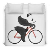 Panda Fixie - duvet-cover - small view