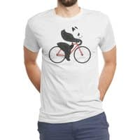 Panda Fixie - mens-triblend-tee - small view