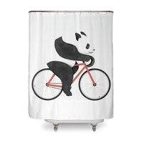 Panda Fixie - shower-curtain - small view