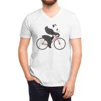 Panda Fixie - vneck - small view