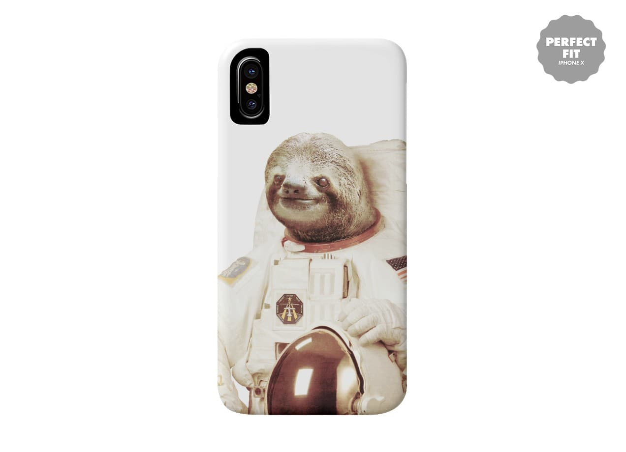 Astronaut Sloth by Bakus | Perfect Fit Phone Case Threadless