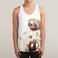 Astronaut Sloth - sublimated-tank - small view