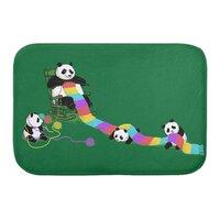 Panda Weaving - bath-mat - small view