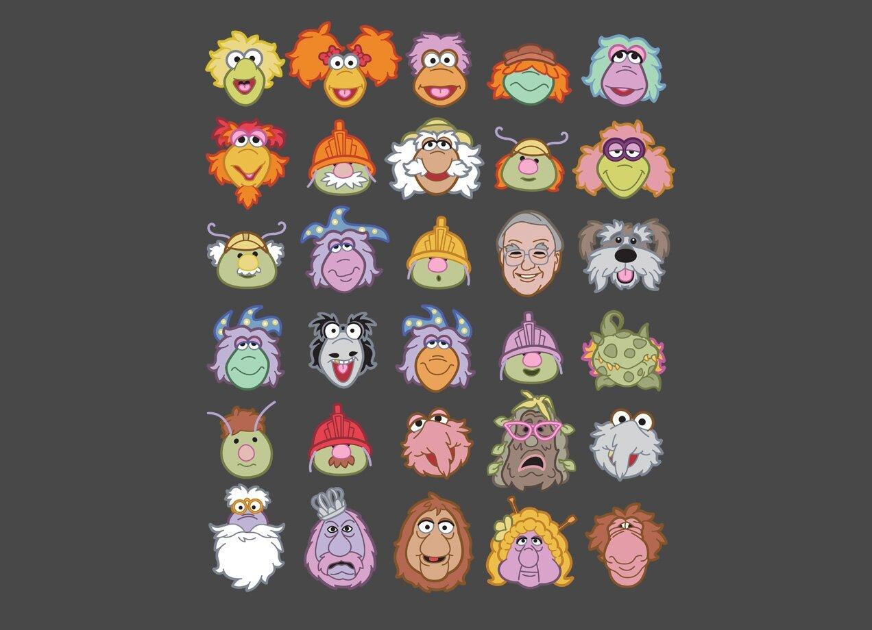 30 Fraggle Faces By Kyle Frisch Threadless