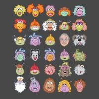 30 Fraggle Faces - small view