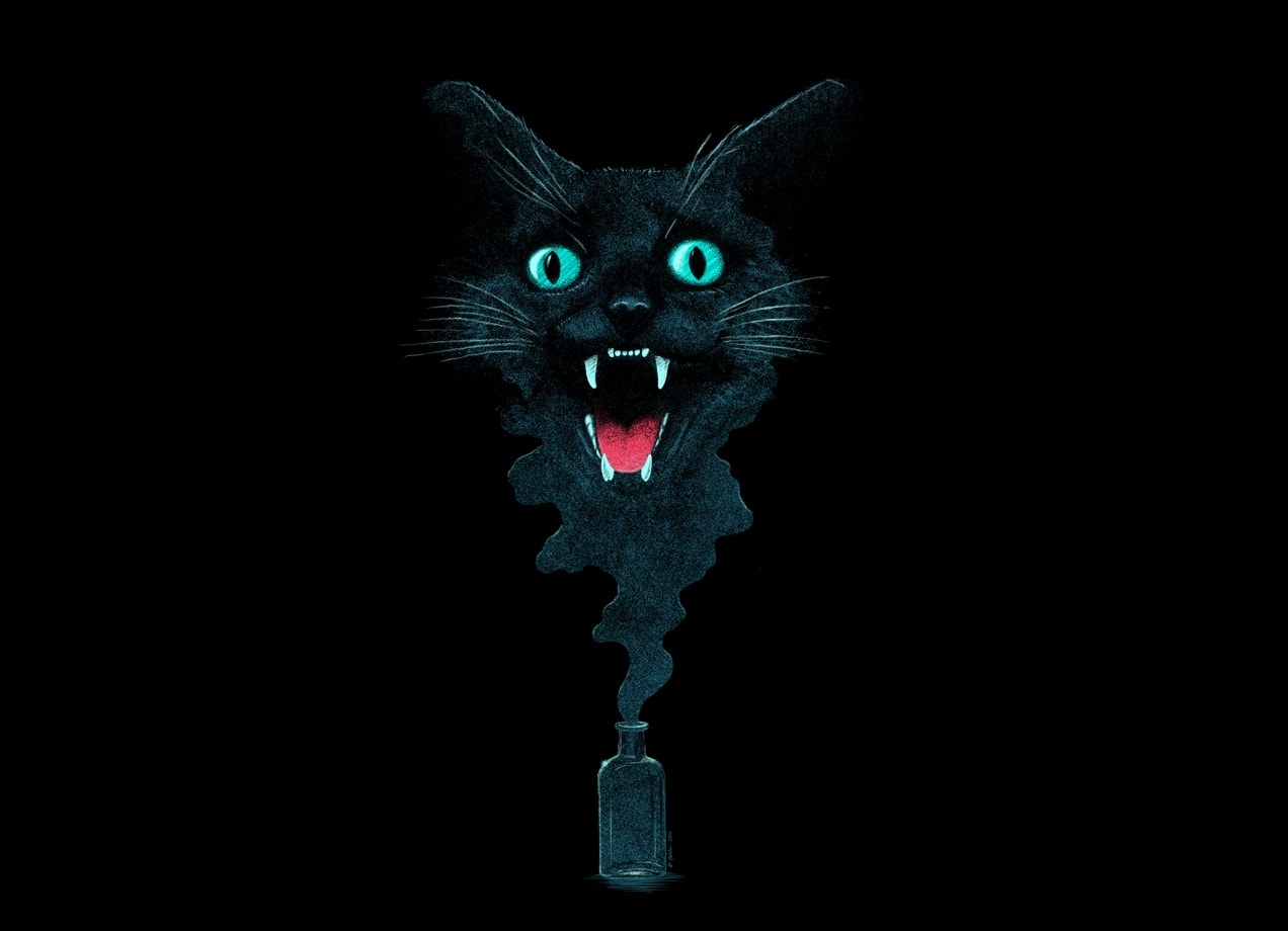 Black Cat Magic By Victor Calahan Threadless
