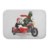 Godzilla and Panda - bath-mat - small view