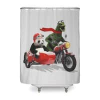 Godzilla and Panda - shower-curtain - small view