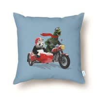 Godzilla and Panda - throw-pillow - small view