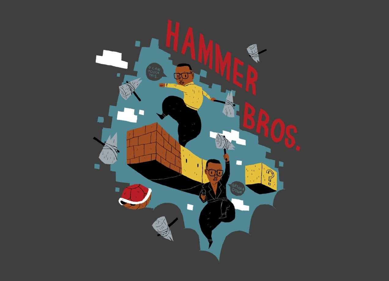 Hammer brothers by louis roskosch threadless for Best place to sell your art online
