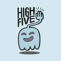 High Five Ghost Says High Five - small view