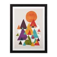 The Mountains are Calling - black-vertical-framed-print - small view