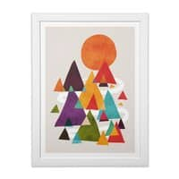 The Mountains are Calling - white-vertical-framed-print - small view