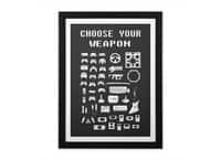 Choose Your Weapon: Gamers - black-vertical-framed-print - small view