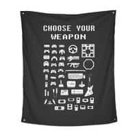 Choose Your Weapon: Gamers - indoor-wall-tapestry-vertical - small view