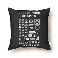 Choose Your Weapon: Gamers - throw-pillow - small view