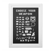 Choose Your Weapon: Gamers - white-vertical-framed-print - small view