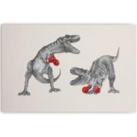 T-Rex Boxing - horizontal-canvas - small view
