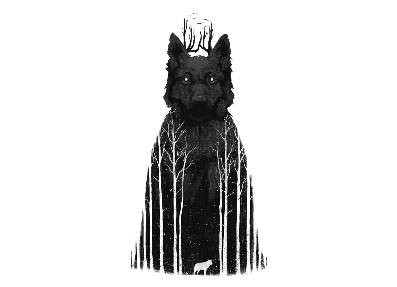 Shower Bath Images The Wolf King By Dan Burgess Threadless