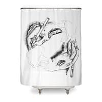 Self Made Zombie. - shower-curtain - small view