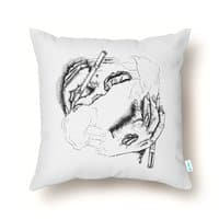 Self Made Zombie. - throw-pillow - small view
