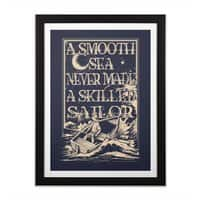 A Smooth Sea - black-vertical-framed-print - small view