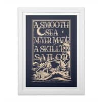 A Smooth Sea - white-vertical-framed-print - small view
