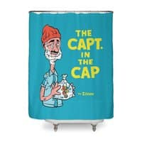 The Capt. in the Cap - shower-curtain - small view