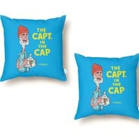 The Capt. in the Cap - throw-pillow - small view