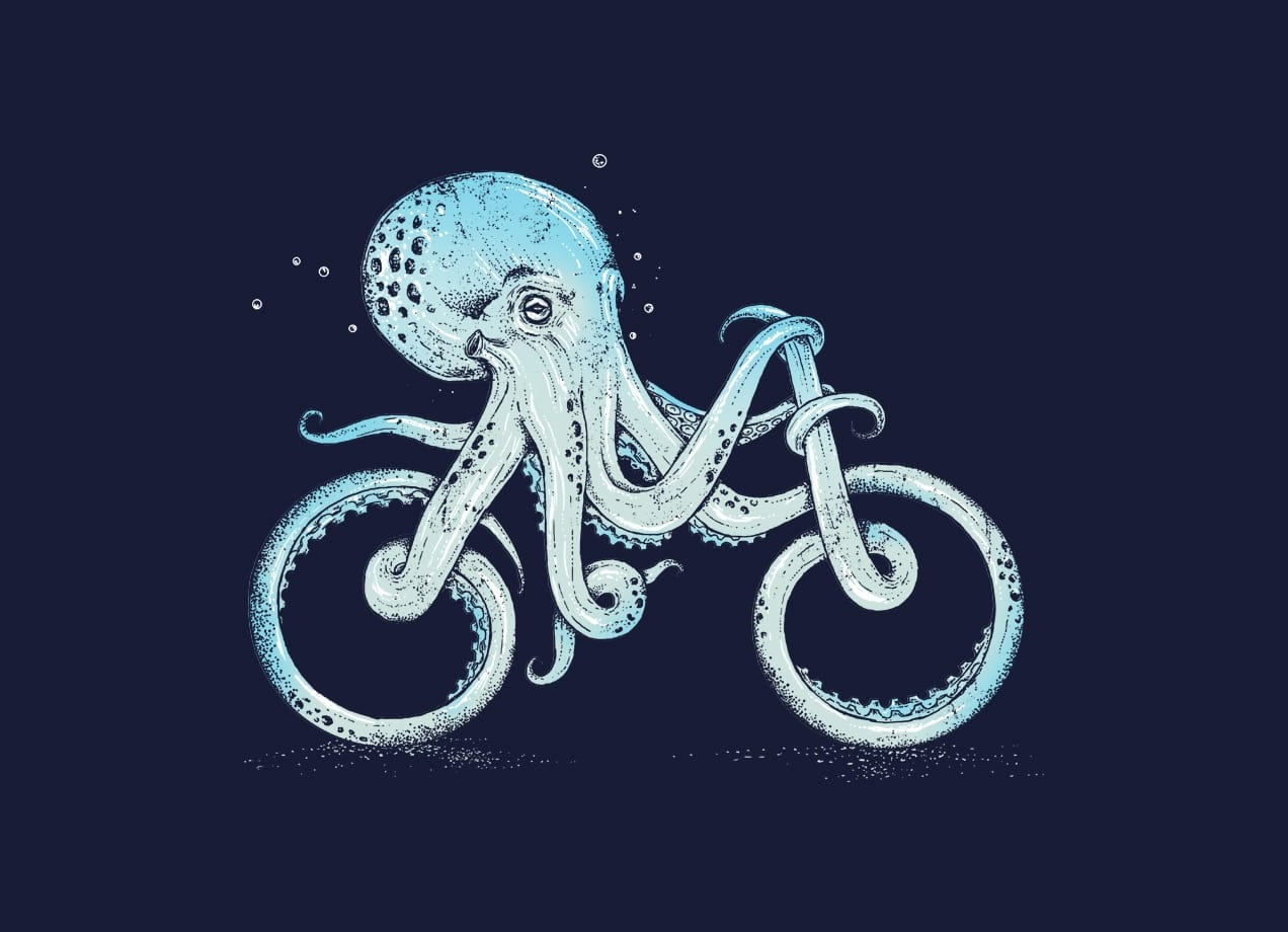 Octopus Bike By Alan Maia Threadless