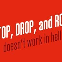 Stop, drop, and roll doesn't work in hell - small view