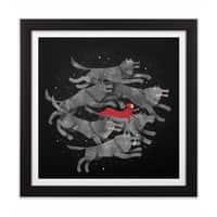 Run with the Pack - black-square-framed-print - small view