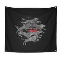 Run with the Pack - indoor-wall-tapestry - small view