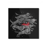 Run with the Pack - square-mounted-aluminum-print - small view