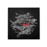 Run with the Pack - square-stretched-canvas - small view