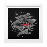 Run with the Pack - white-square-framed-print - small view