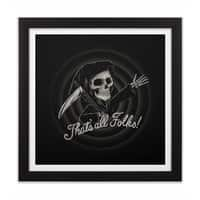The End - black-square-framed-print - small view
