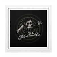 The End - white-square-framed-print - small view