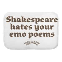 Shakespeare hates your emo poems - bath-mat - small view