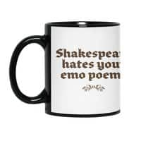 Shakespeare hates your emo poems - black-mug - small view