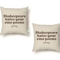 Shakespeare hates your emo poems - throw-pillow - small view