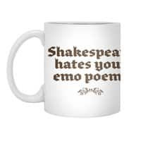 Shakespeare hates your emo poems - white-mug - small view