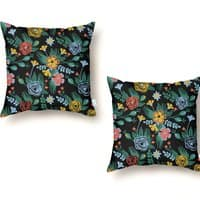 Flower Bucket - throw-pillow - small view